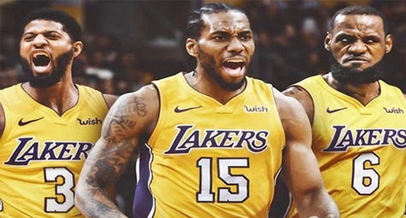 Paul George Kawhi Leonard LeBron James Lakers Big Three