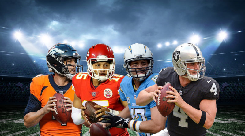 AFC West Keenum Mahomes Rivers Carr