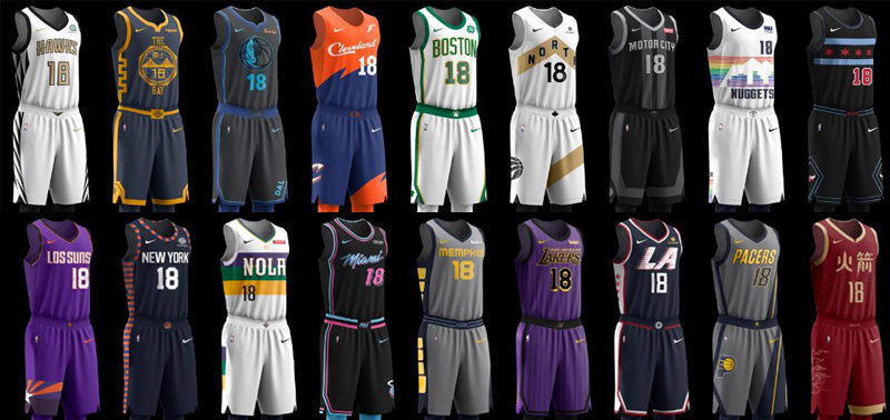 NBA city edition jersey 2018