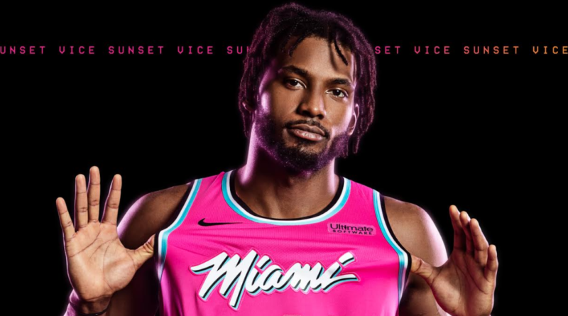 Miami Heat sunset vice jersey