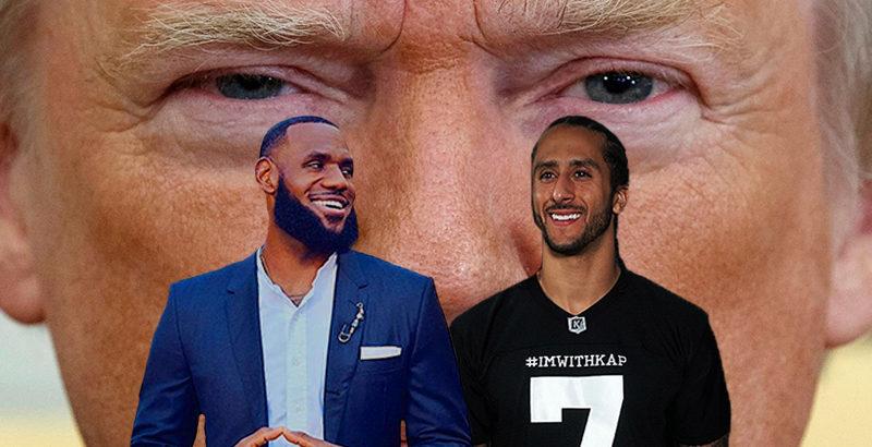Colin Kaepernick Lebron James vs Donald Trump