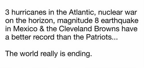 Fine del mondo record Browns migliore Patriots