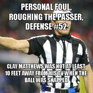 Roughing the passer #52