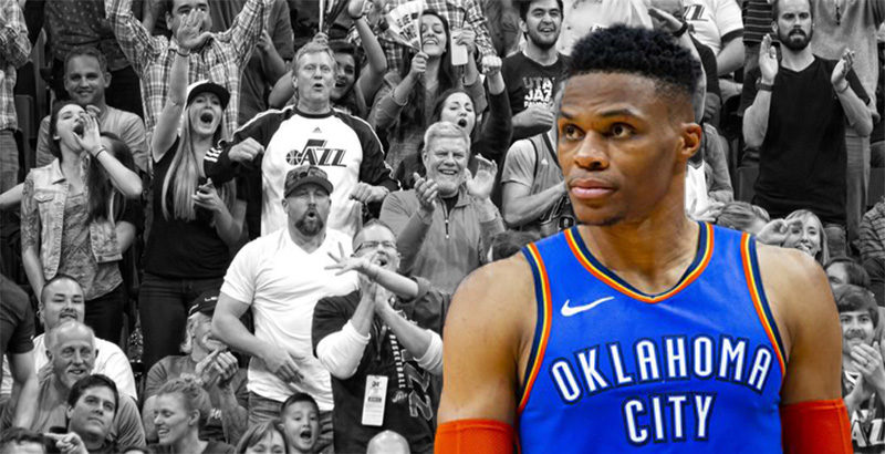 Russell Westbrook lite Jazz fan